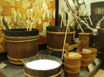 Museo del Sake di Kyoto. Lavorazione del riso.
