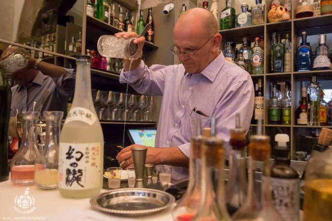 Junmai Ginjo Maboroshi no Taki: coktail by Luca Picchi (Cafe Revoire) @Rivalta Cafe